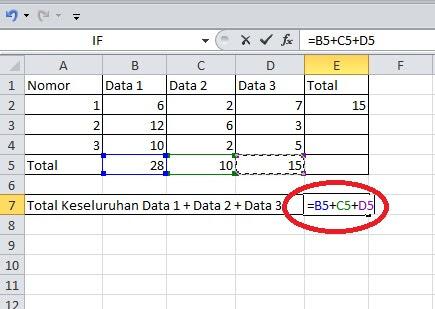 Menjumlahkan Beda Kolom atau Tabel Dengan Operator Plus (+)