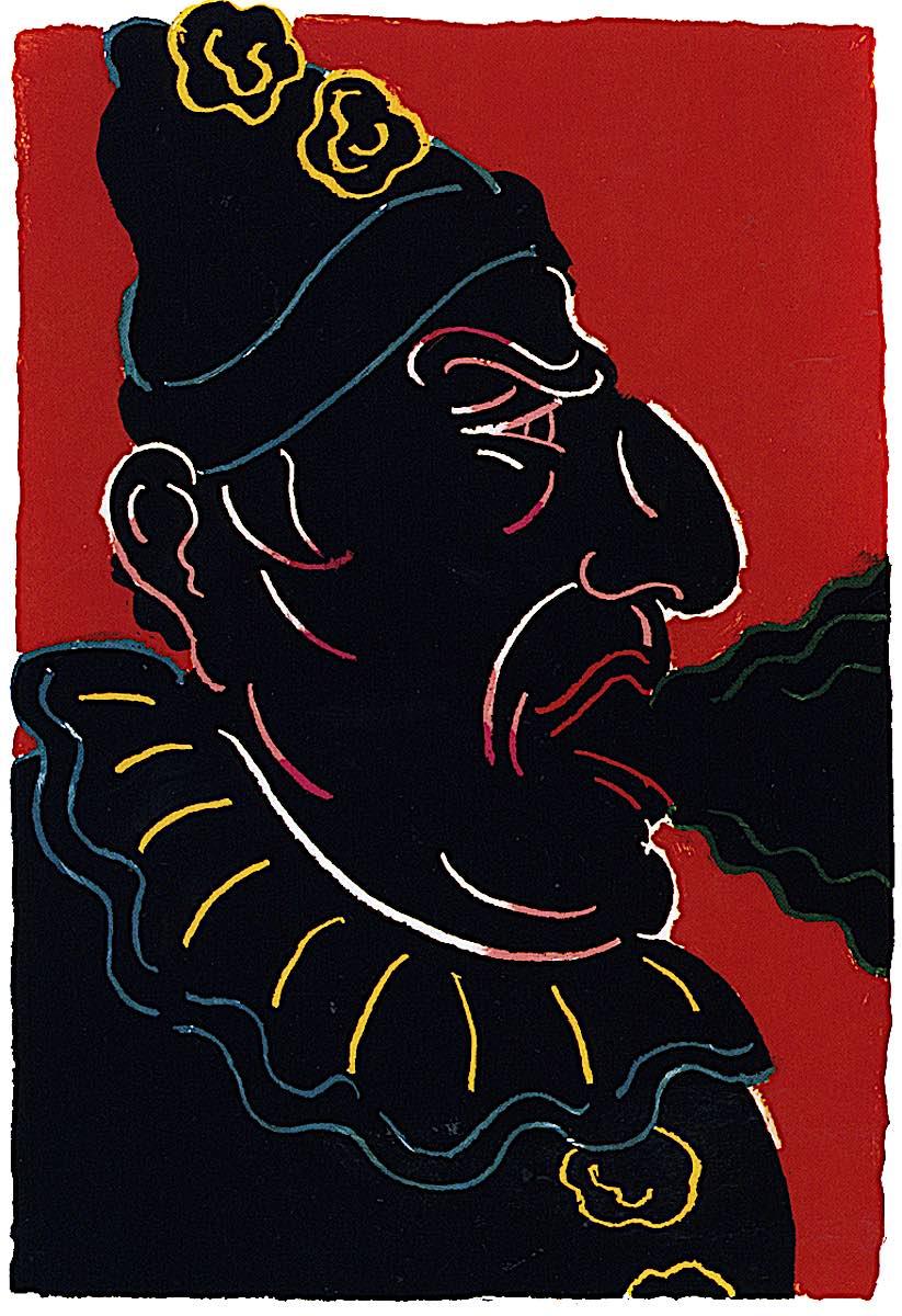 Seymour Chwast, a dark circus clown