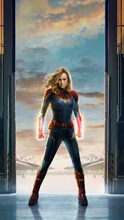 Captain Marvel Movie Mobile HD Wallpaper