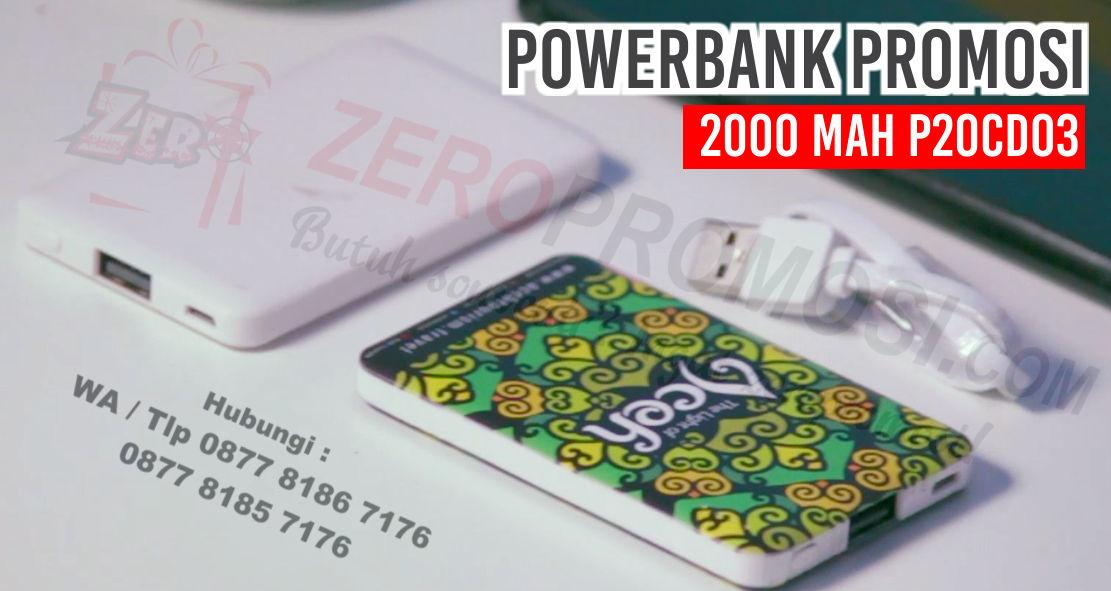 Powerbank Arden P20CD03, Powerbank Arden 2000mAh P20CD03, souvenir powerbank,  Power Bank Arden Slim Card 2000 mAh P20CD03, Powerbank Card Plastik 2.000mAH, powerbank printing tertipis