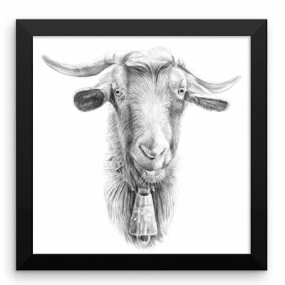 https://www.etsy.com/uk/listing/590349076/framed-posterpencil-drawing-printgoat