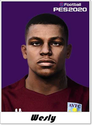 PES 2020 Wesley Face Update by Shaft Facemaker