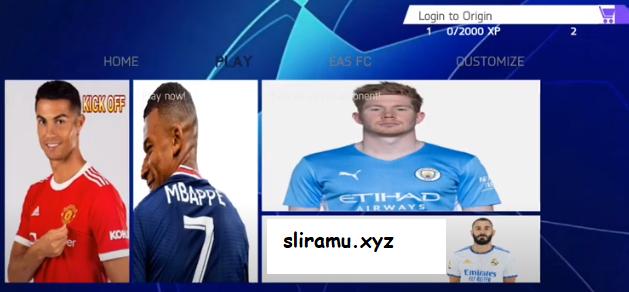 Fifa 22 Mod UCL Full Eropa (800MB) New Kits & Transfer 21/22