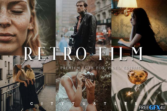 Retro Film LUTs For Video Editing