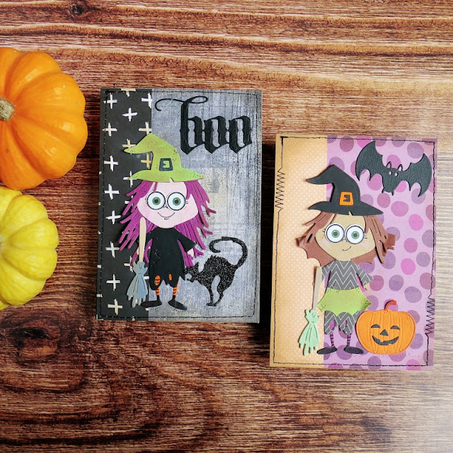 Card con Streghette per Halloween
