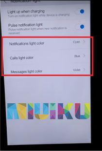 cara mengatur warna lampu notifikasi redmi 4x