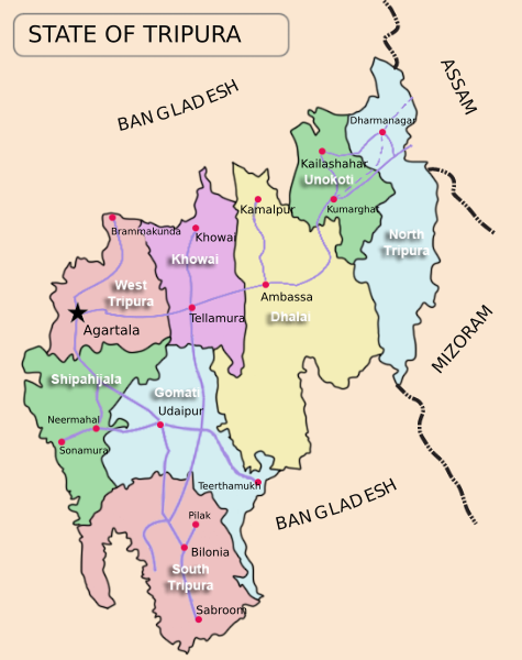10 Major Rivers of Tripura Map