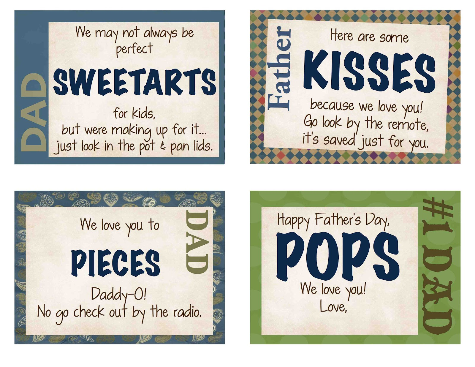 Just Sweet And Simple Father S Day Printables Amp T Ideas