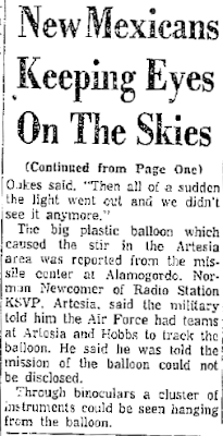 New Mexicans Keep Eyes On The Sky (-Cont) - The New Mexican 11-6-1957