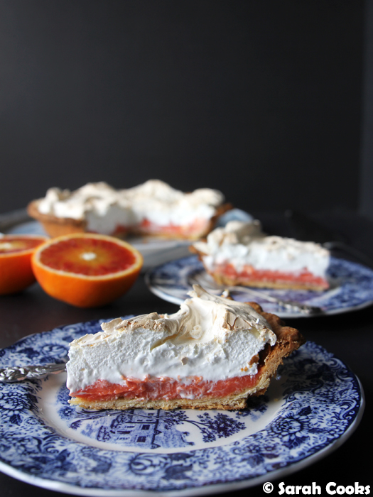 Blood Orange Meringue Pie