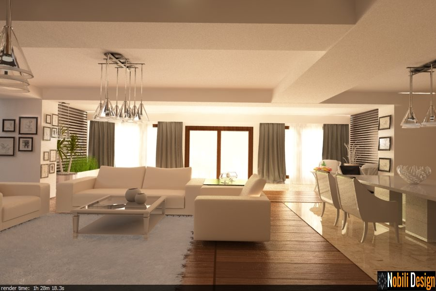 Design interior vila moderna Targoviste - Design interior casa stil clasic Targoviste / Arhitect