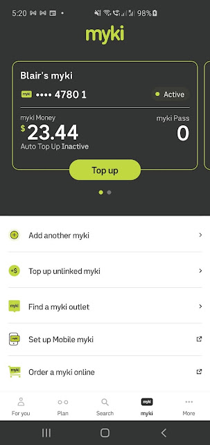 mobile myki app