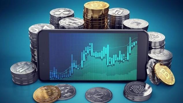 Ilustrasi Mata Uang Digital atau Cryptocurrency