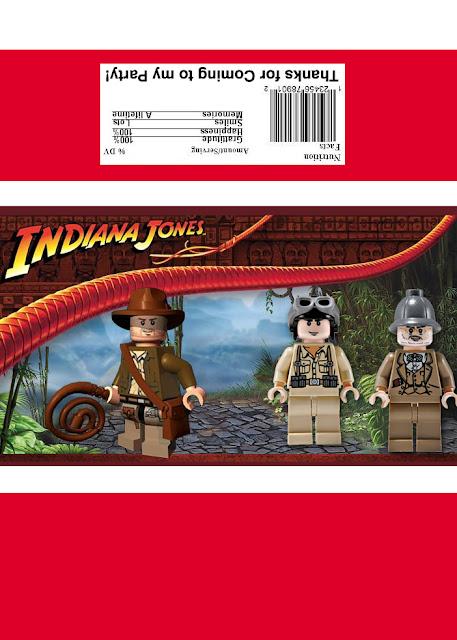 Lego Indiana Jones Free Printable Chocolate Wrapper.