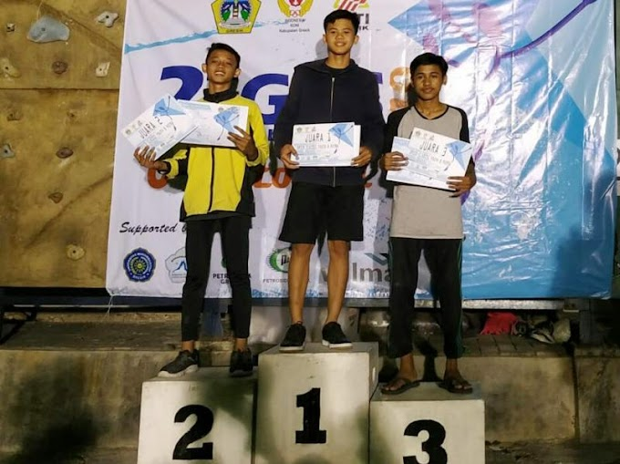 Atlet Daniel Budiharja Rebut Juara I Panjat Tebing, Wakili Gresik Maju ke Porprov