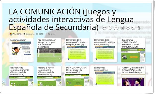 """""""13 Juegos y actividades interactivas sobre LA COMUNICACIÓN de Lengua Española de Secundaria"""""""