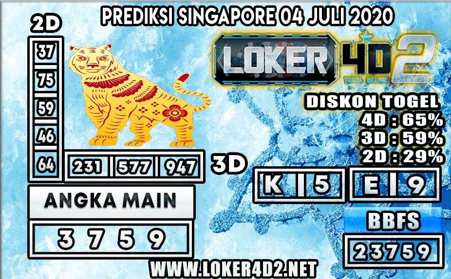 PREDIKSI TOGEL SINGAPORE LOKER4D2 04 JULI 2020