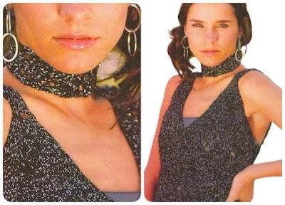 Patrón crochet conjunto top y gargantilla