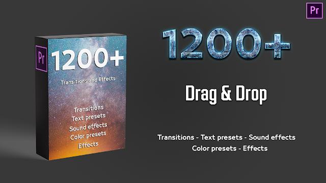 حزمة الإنتقالات والتأثيرات المهمة للادوبي بريمير 1200+ Transitions & Effects -  Editor Pack