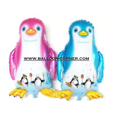 Balon Foil Penguin Pink & Biru