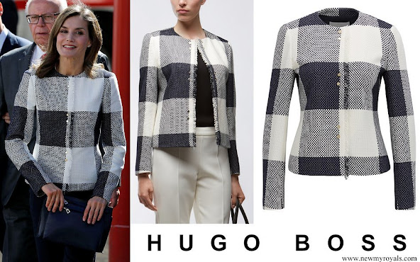 Queen Letizia wore Hugo Boss Karolie Blazer