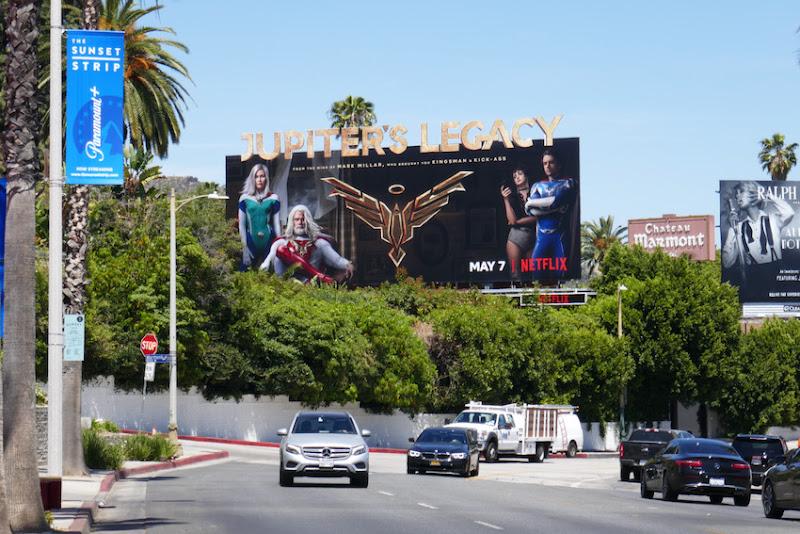 Jupiters Legacy TV series billboard