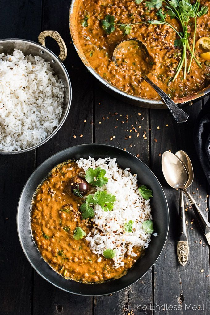CREAMY COCONUT LENTIL CURRY #lentil #coconut #vegan #recipes #yummy