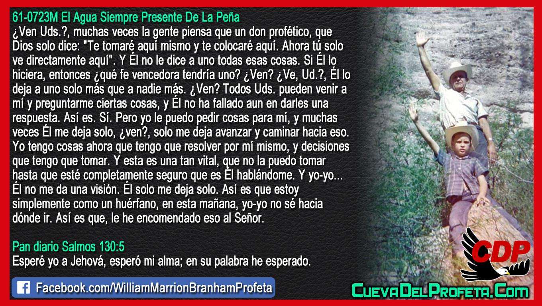 Y muchas veces Él me deja solo - William Branham en Español