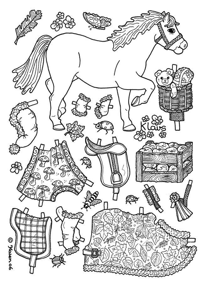 karen s paper dolls klavs christmas horse to print and