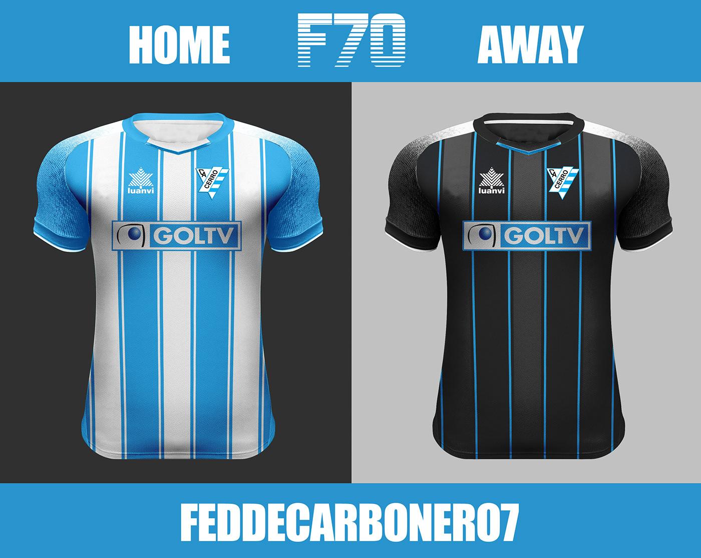 c0692dd7dd Designer cria camisas de clubes uruguaios - Show de Camisas