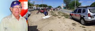 Aposentado morre após acidente envolvendo caminhão na PB 177 em São Vicente do Seridó
