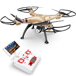 Drone Quadcopter Syma X8HW HD Wifi Camera Hold Altitude FPV Real Time Sisa Stok
