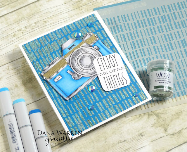 Dana Warren - Kraft Paper Stamps  - Graciellie Designs Wow Embossing Powder