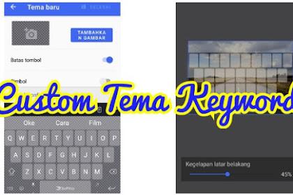 Cara Mengganti Tema Keyboard HP Android Dengan Foto Sendiri Atau Gambar