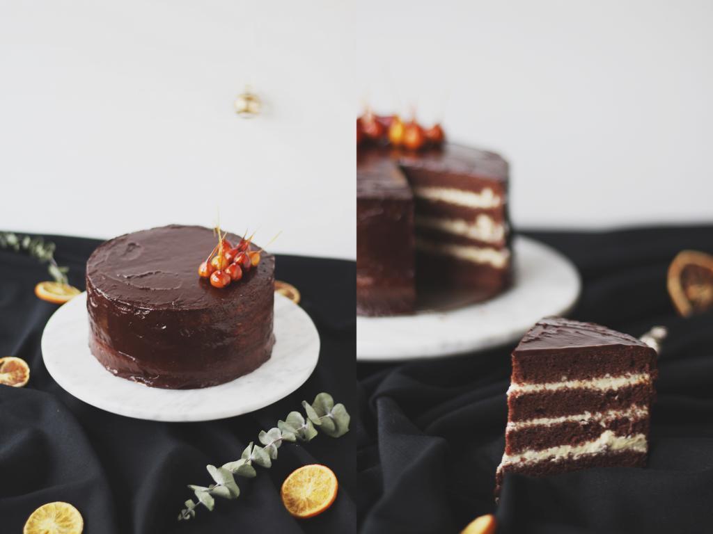 Bilder der Torte mit Tortenstück