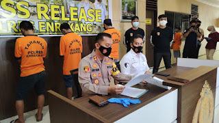 Akibat Main Hakim Sendiri Awalnya Korban Kini Menjadi Tersangka, Kapolres Enrekang Pimpin Press Release kasus Penganiayaan