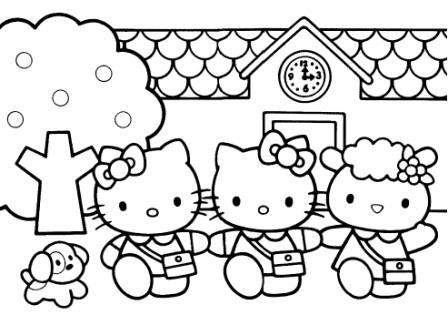 Dibujos Para Colorear Dibujo Para Colorear Hello Kitty Y Sus Amigos