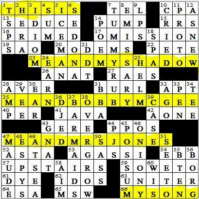L A Times Crossword Corner Monday July 7 2014 Jerry