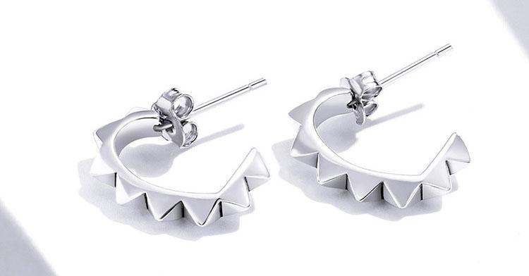 個性搖滾風 925純銀耳環