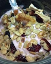 sweet salty trail mix yogurt pretzels
