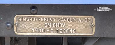 Salonka Tomáša Masaryka, Ringhoffer, tabliczka znamionowa, Czech Raildays 2018