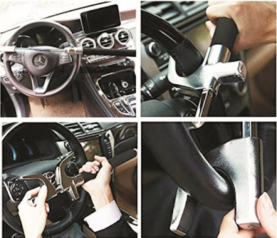 Car Wheel Locks: Adjustable Anti-Theft Steering Lock for Vehicles - Tevlaphee