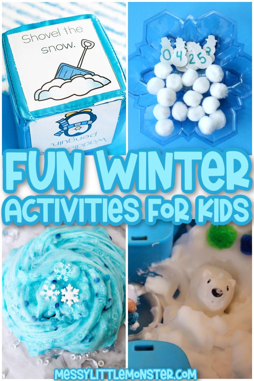 winter activities for kids, toddlers and preschoolers
