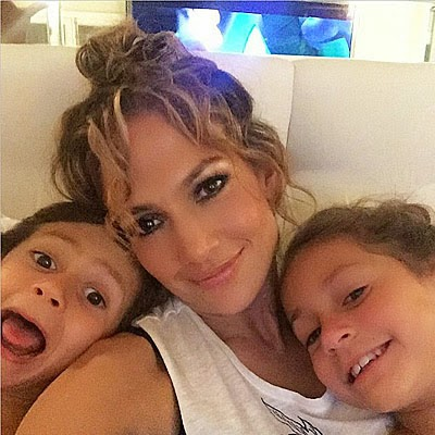 Jennifer Lopez with Max and Emmy