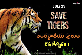 International Tigers Day Images in Telugu