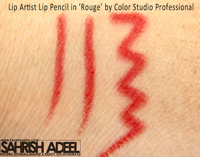 Color Studio Pro's Lip Artist Lip Pencil in 'Rouge' - Review & Swatch