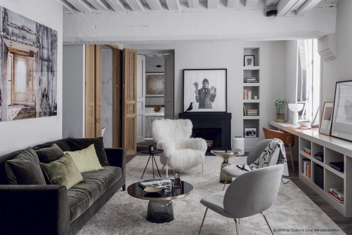 A Stylish Paris Apartment in Soft Gray Tones by Studio double g