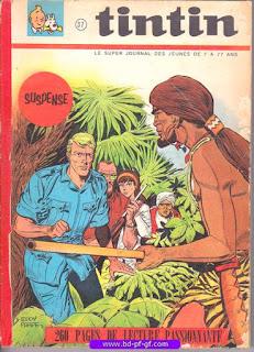 Tintin recueil souple, numéro 37, année 1967