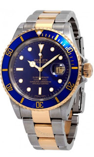 Pajak Rolex ( Pawn Rolex Submariner Blue Dial Stainless steel and 18K Yellow Gold Oyster Bracelet Automatic Men's Watch 16613BLSO ) Cert / Box RM 30,000