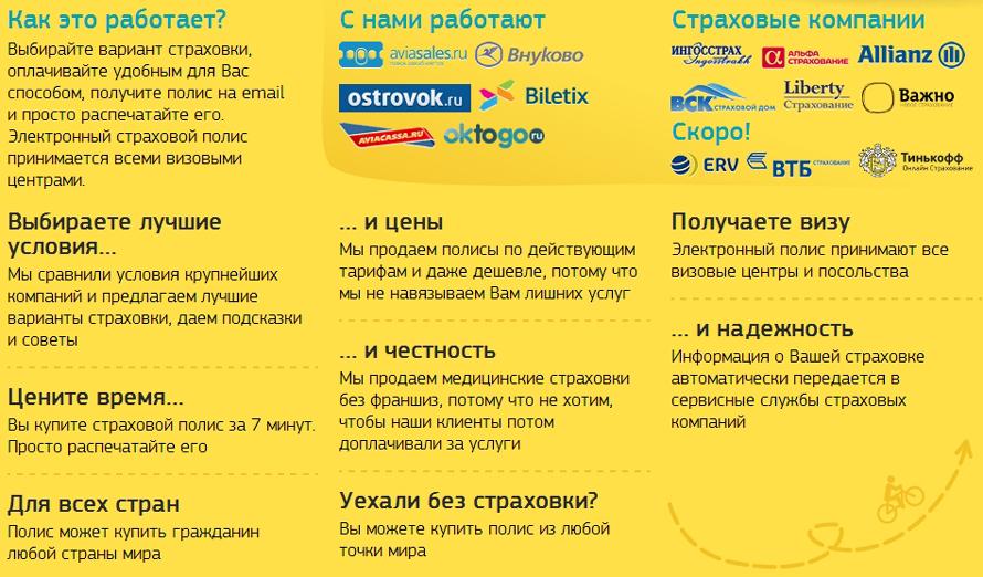 Туристическая страховка - сервис сравнения и продаж страховых услуг онлайн